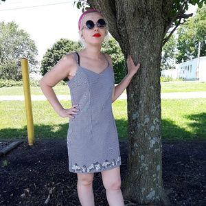 Vintage Checkered Summer Dress